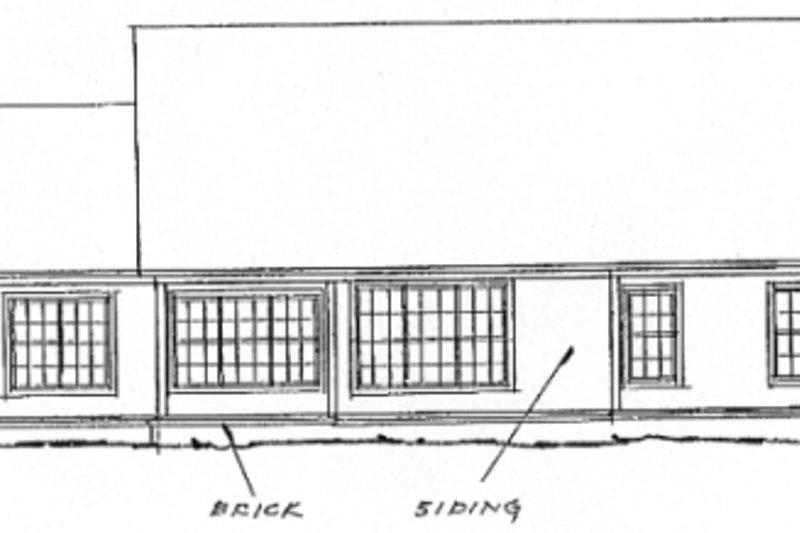 Farmhouse Exterior - Rear Elevation Plan #20-362 - Houseplans.com