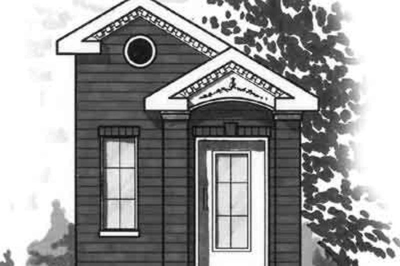 Cottage Exterior - Front Elevation Plan #23-468