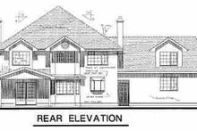 House Design - European Exterior - Rear Elevation Plan #18-221