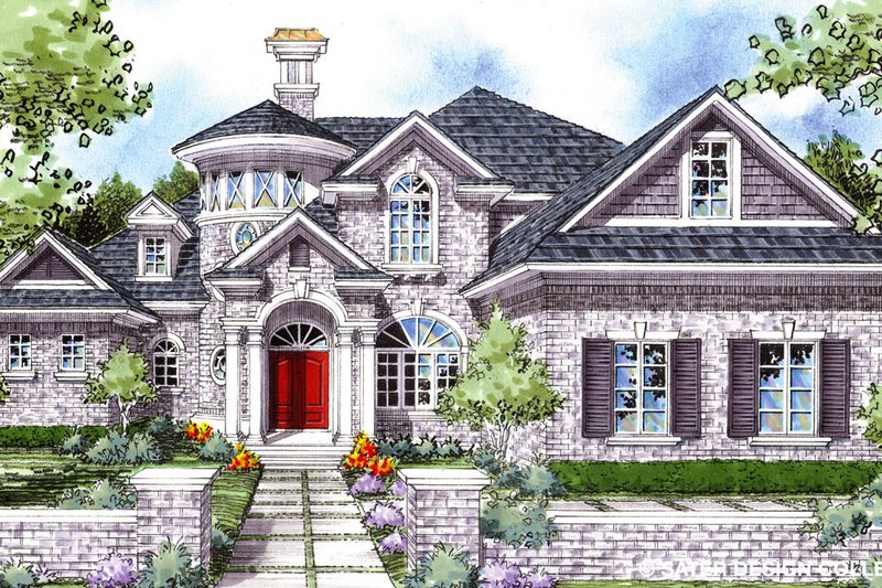 Home Plan - Mediterranean Exterior - Front Elevation Plan #930-275
