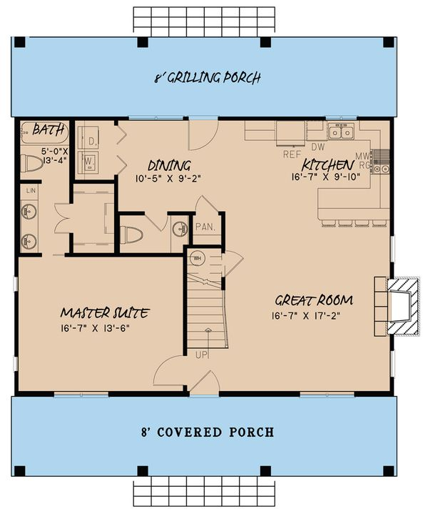 Country Floor Plan - Main Floor Plan Plan #923-40