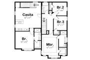 Craftsman Style House Plan - 4 Beds 3.5 Baths 2506 Sq/Ft Plan #20-2325 Floor Plan - Upper Floor