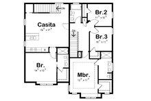 Craftsman Floor Plan - Upper Floor Plan Plan #20-2325