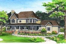 Dream House Plan - Country Exterior - Front Elevation Plan #72-136