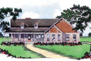 Southern Exterior - Front Elevation Plan #36-339