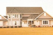 European Style House Plan - 3 Beds 3.5 Baths 2596 Sq/Ft Plan #421-147 Exterior - Front Elevation