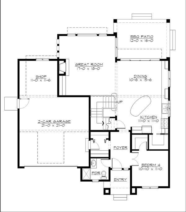 Home Plan - Cottage Floor Plan - Main Floor Plan #132-567