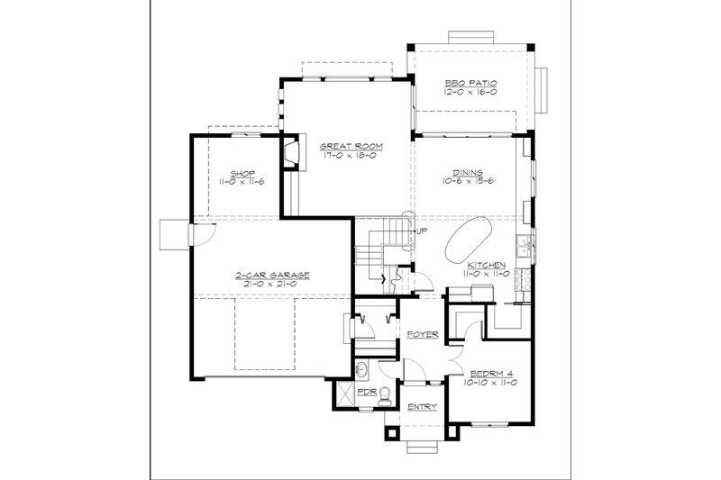 Cottage Floor Plan - Main Floor Plan Plan #132-567