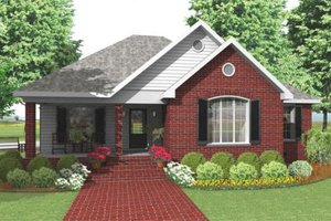 Traditional Exterior - Front Elevation Plan #406-142