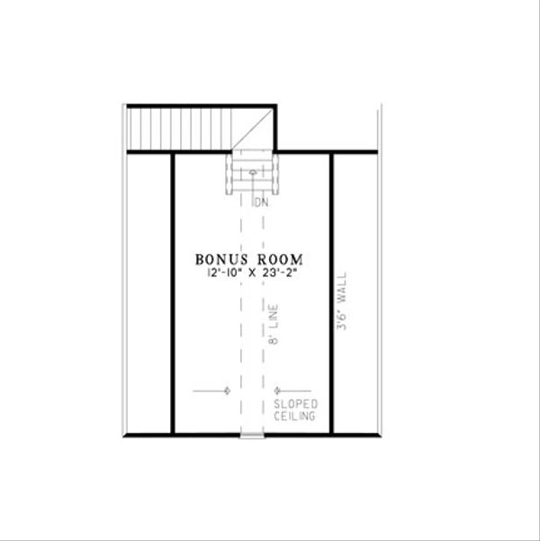 Traditional Floor Plan - Upper Floor Plan Plan #17-2379