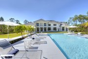 Contemporary Style House Plan - 4 Beds 4.5 Baths 4943 Sq/Ft Plan #930-512 Exterior - Rear Elevation