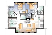 Country Style House Plan - 2 Beds 2 Baths 1096 Sq/Ft Plan #23-623 Floor Plan - Upper Floor Plan