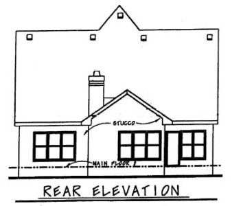 European Exterior - Rear Elevation Plan #20-1231 - Houseplans.com