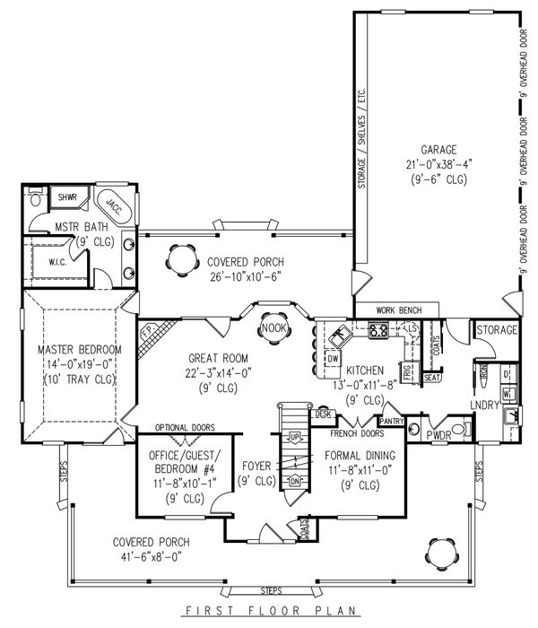 Country Floor Plan - Main Floor Plan Plan #11-121
