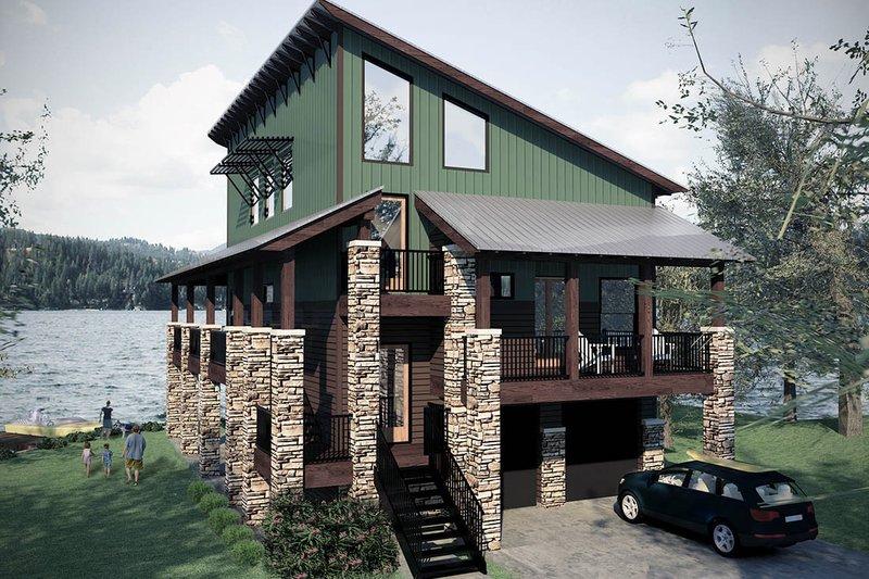 Modern Exterior - Front Elevation Plan #472-3 - Houseplans.com