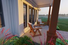 Home Plan - Farmhouse Exterior - Covered Porch Plan #126-175