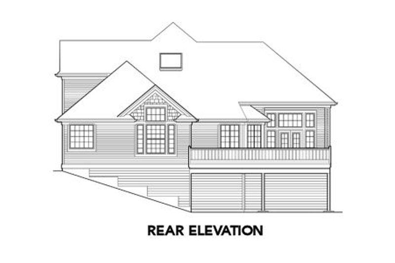 Traditional Exterior - Rear Elevation Plan #48-327 - Houseplans.com