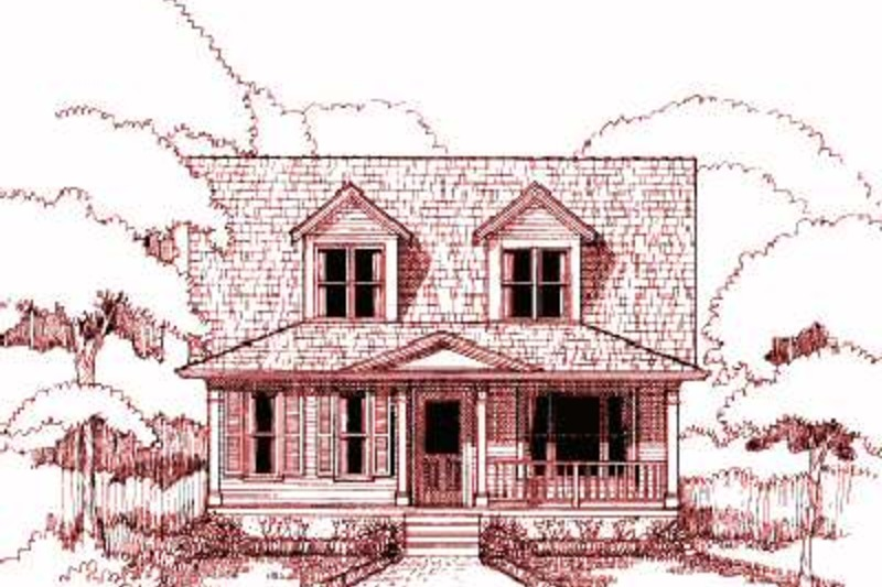 Farmhouse Exterior - Front Elevation Plan #79-154