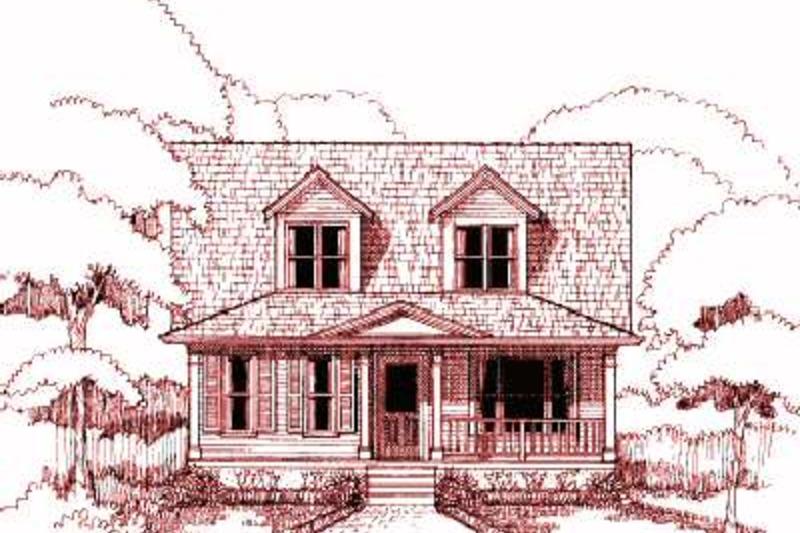 Farmhouse Exterior - Front Elevation Plan #79-154 - Houseplans.com