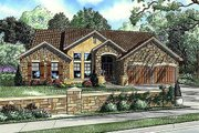 European Style House Plan - 4 Beds 2 Baths 2256 Sq/Ft Plan #17-109 Exterior - Front Elevation