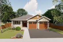 Dream House Plan - Craftsman Exterior - Front Elevation Plan #126-199