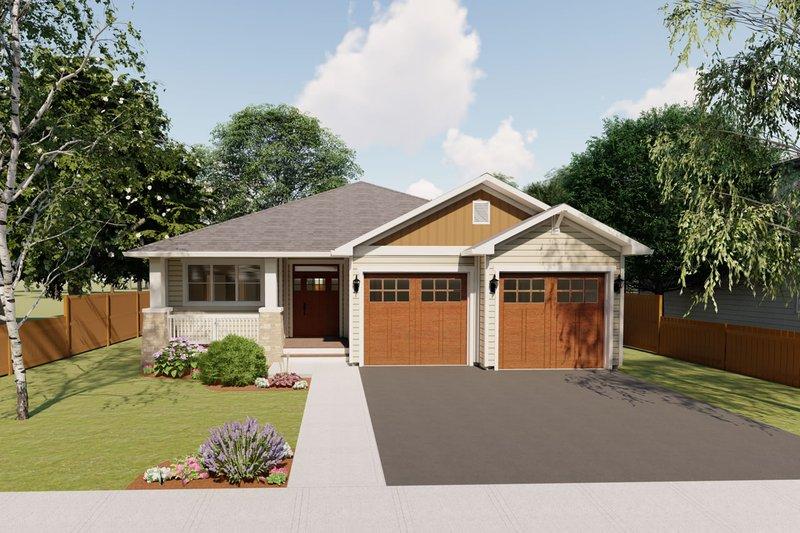 House Plan Design - Craftsman Exterior - Front Elevation Plan #126-199