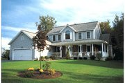 Country Style House Plan - 4 Beds 2.5 Baths 2277 Sq/Ft Plan #20-2002 Exterior - Front Elevation