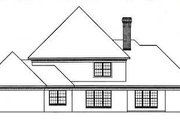 Southern Style House Plan - 4 Beds 2.5 Baths 2605 Sq/Ft Plan #45-151 Exterior - Rear Elevation