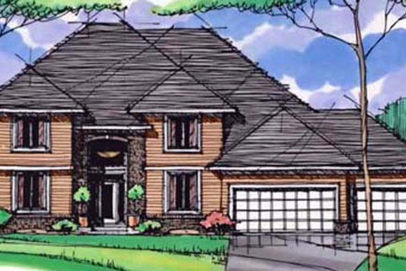 Traditional Exterior - Front Elevation Plan #51-404