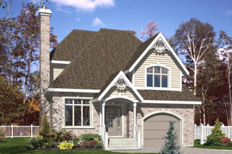 Country Style House Plan - 3 Beds 2.5 Baths 1383 Sq/Ft Plan #138-314 Exterior - Front Elevation