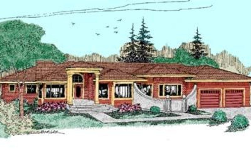Traditional Exterior - Front Elevation Plan #60-382 - Houseplans.com
