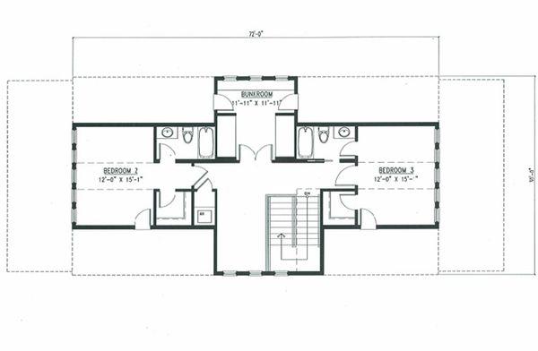 Beach Style House Plan - 4 Beds 3.5 Baths 2802 Sq/Ft Plan #443-8 Floor Plan - Upper Floor Plan