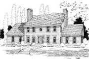 Colonial Style House Plan - 3 Beds 2.5 Baths 2406 Sq/Ft Plan #75-135 Exterior - Front Elevation