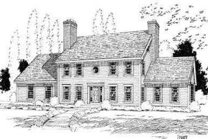 Colonial Exterior - Front Elevation Plan #75-135