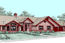 Dream House Plan - Traditional Exterior - Front Elevation Plan #60-264