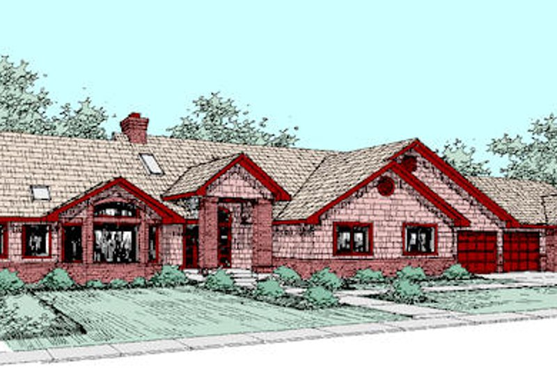 Traditional Exterior - Front Elevation Plan #60-264 - Houseplans.com