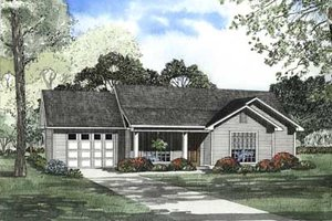 Traditional Exterior - Front Elevation Plan #17-450