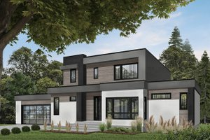 Home Plan - Modern Exterior - Front Elevation Plan #23-2310