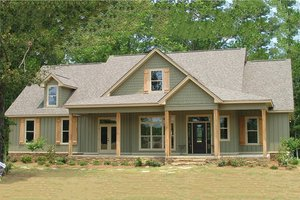 Architectural House Design - Country Exterior - Front Elevation Plan #63-271