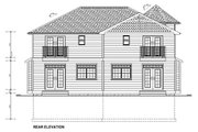 Victorian Style House Plan - 3 Beds 2.5 Baths 3690 Sq/Ft Plan #126-152 Exterior - Rear Elevation
