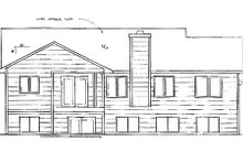 Dream House Plan - Traditional Exterior - Rear Elevation Plan #58-145