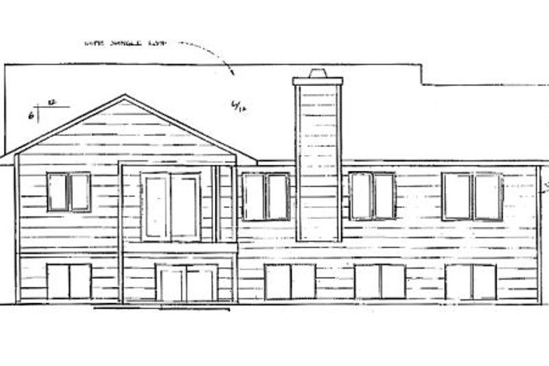 Traditional Exterior - Rear Elevation Plan #58-145 - Houseplans.com