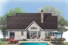 Dream House Plan - Craftsman Exterior - Rear Elevation Plan #929-609