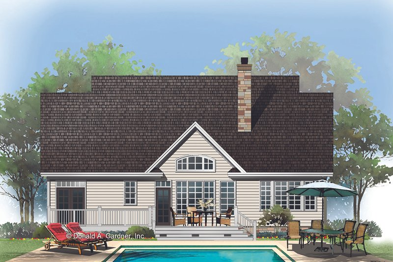 Craftsman Exterior - Rear Elevation Plan #929-609 - Houseplans.com