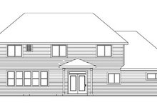 Home Plan - Traditional Exterior - Rear Elevation Plan #124-743