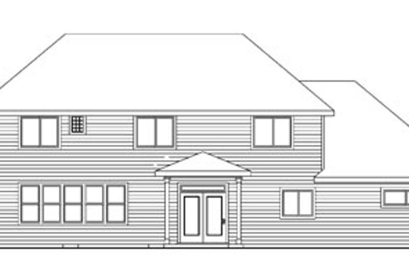 Traditional Exterior - Rear Elevation Plan #124-743 - Houseplans.com