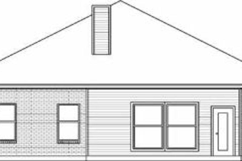 Traditional Exterior - Rear Elevation Plan #84-135 - Houseplans.com