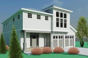 Contemporary Exterior - Front Elevation Plan #524-7