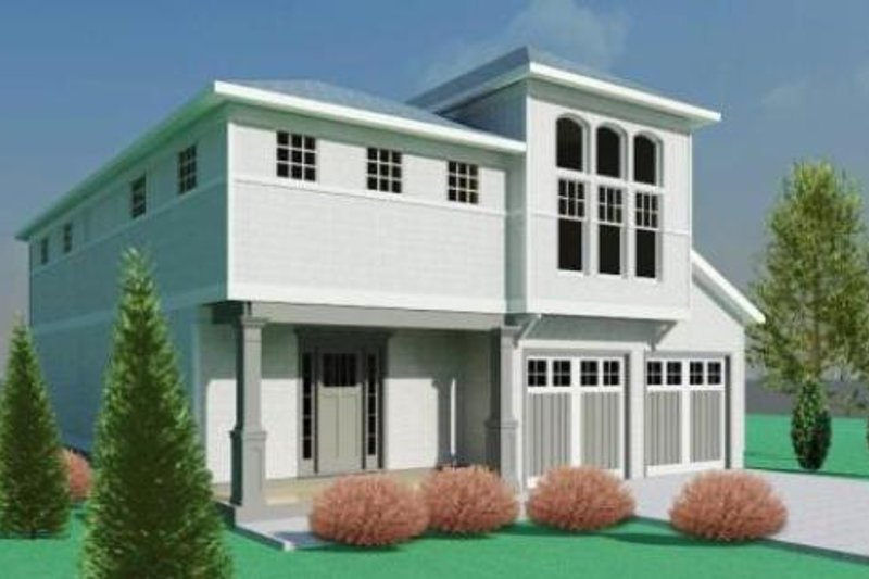 Contemporary Style House Plan - 3 Beds 2.5 Baths 2310 Sq/Ft Plan #524-7 Exterior - Front Elevation