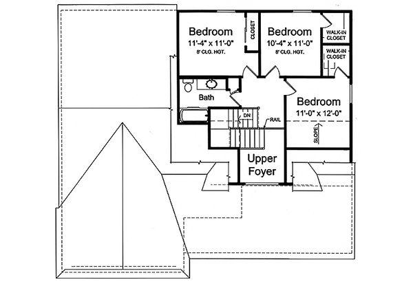 House Plan Design - Craftsman Floor Plan - Upper Floor Plan #46-494